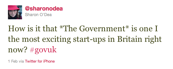 How is it that *The Government* is one I the most exciting start-ups in Britain right now? #govuk