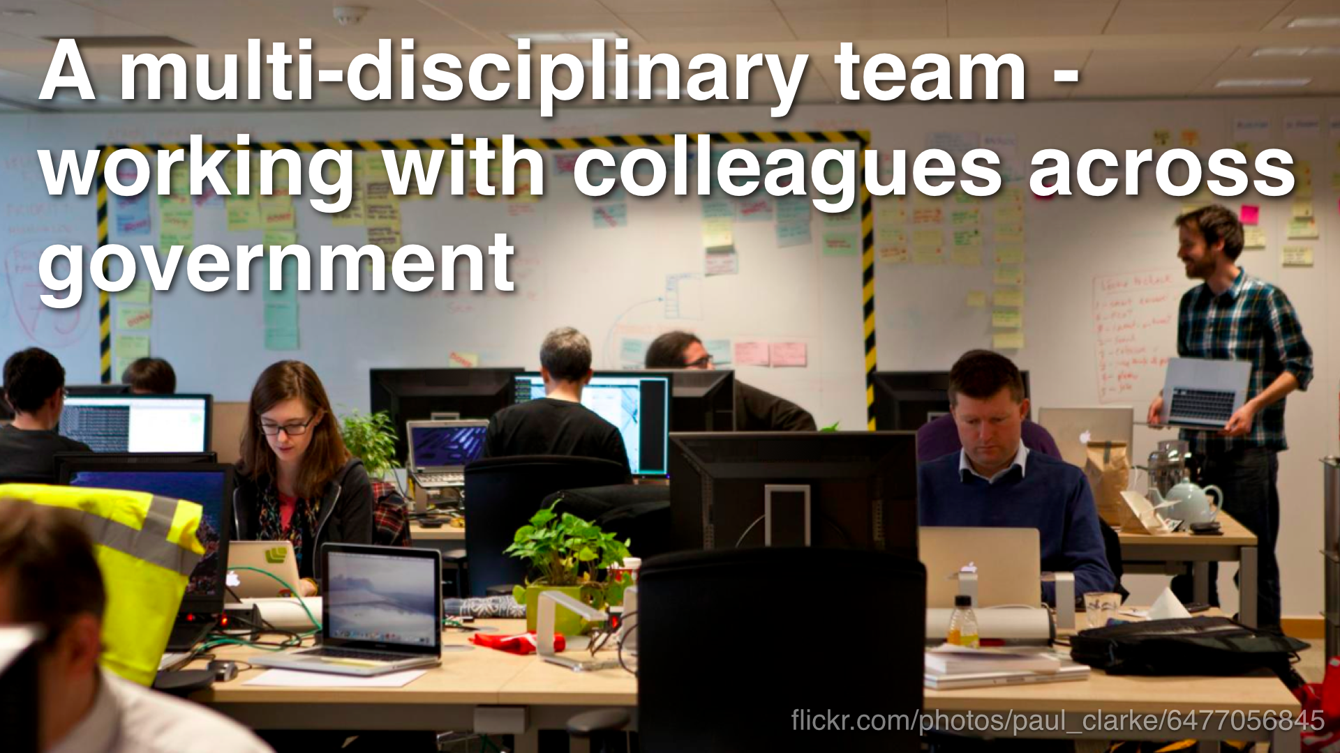 """a multi-disciplinary team - working with colleagues across government"""