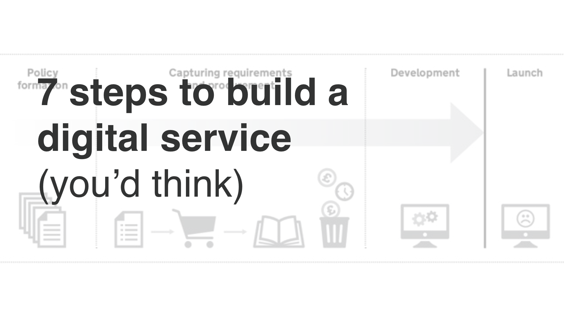 """7 steps to build a digital service - you'd think"""