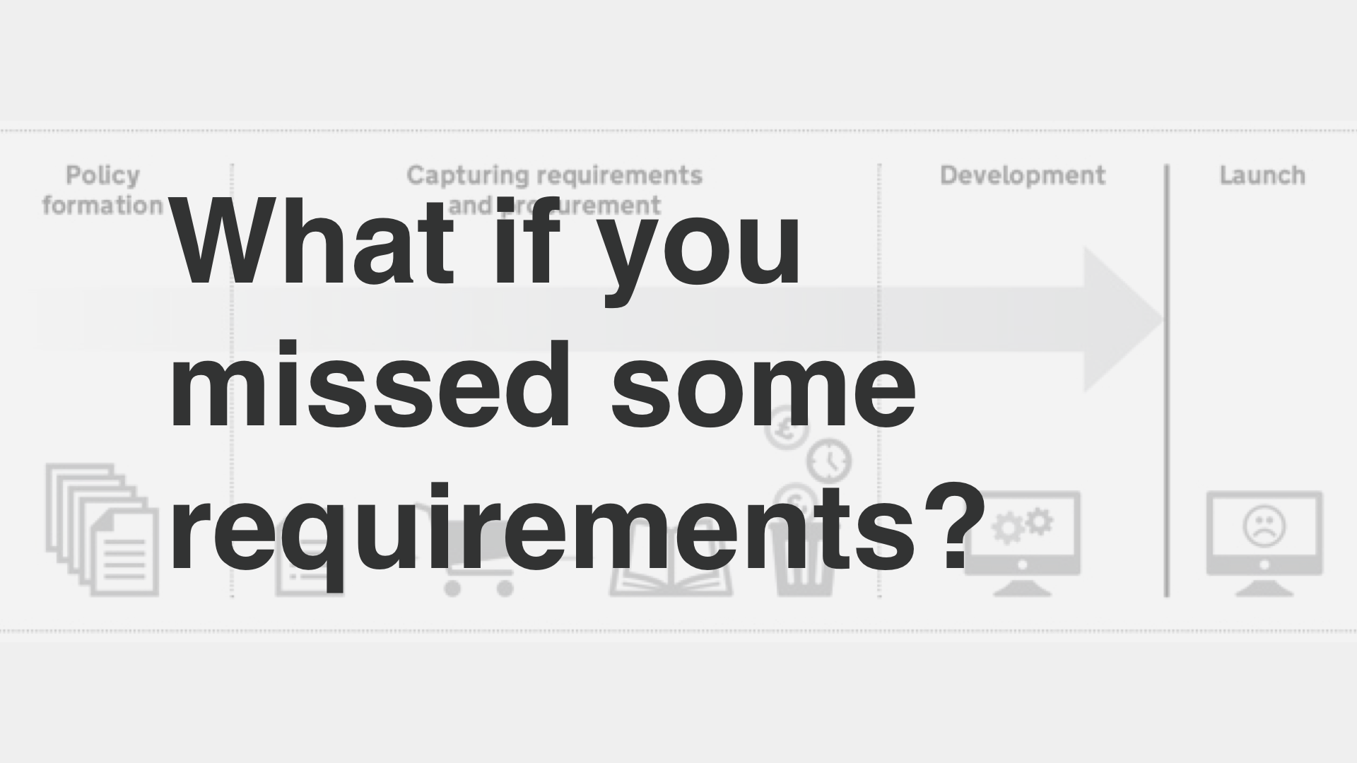 """What if you missed some requirements?"""
